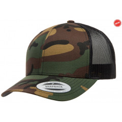 Кепка FlexFit Retro Trucker Green Camo