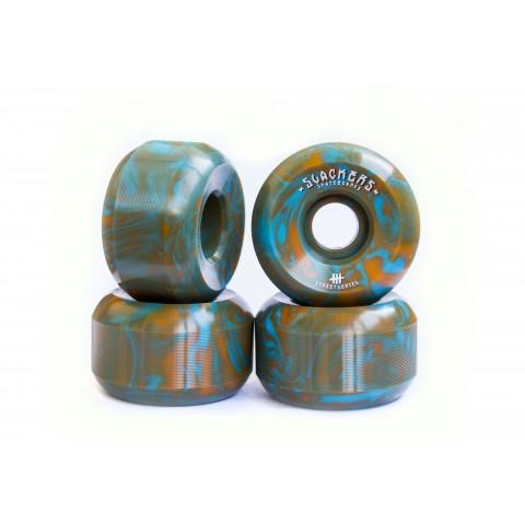 "Колеса SLACKERS ""stoner formula"" синий + оранжевый, 100А"